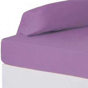 Beautiful and soft bottom sheet for beds of 90 in lilac - Home and more