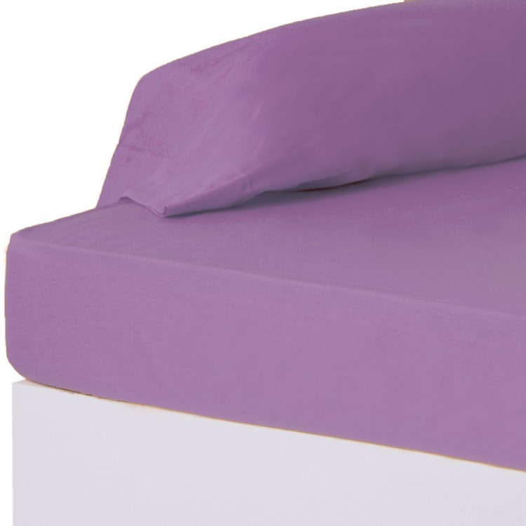 Bonita y suave sábana bajera para camas de 90 en color lila - Hogar y más