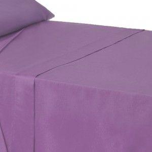 Sábana encimera lila para camas de 90 - Hogar y más