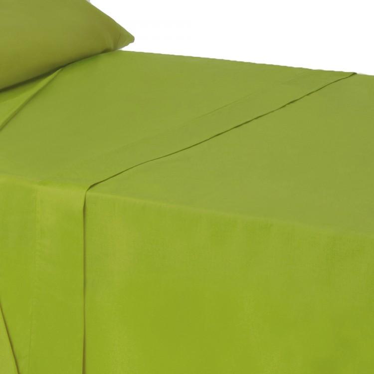 Sábana encimera en color verde intenso para cama de 90 - Hogar y más