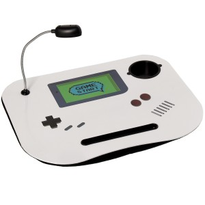 """Tray computer padded and practice with fun design of """"GameBoy"""" Led Lamp - Home and More"""