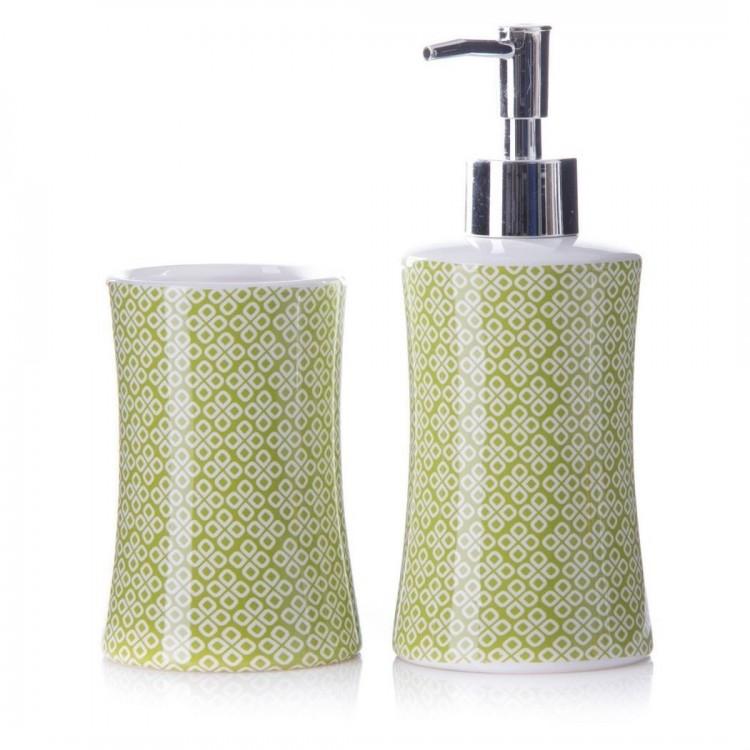 Hogar y Mas - Set Baño Dispensador y vaso