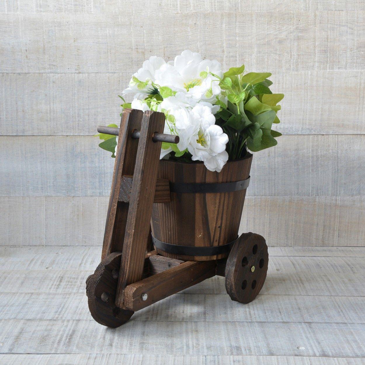 Macetero original de madera natural bicicleta garden friends hogar y mas hogar y m s - Bicicleta macetero ...