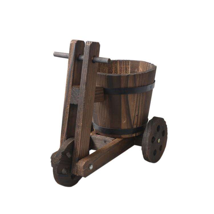 Macetero original de madera natural Bicicleta Garden Friends - Hogar y Mas