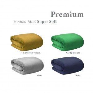 Manta polar Super Soft. Modelo Tíbet 170 X 130 cm. de colores - Hogar y más
