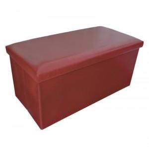 Puff Trunk Foldable Collar for Storage Original Elegant Design Red
