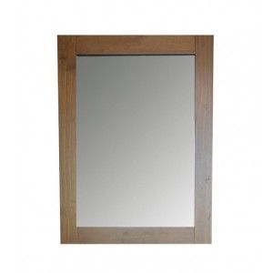 Wall mirror elegant honey color, rectangular England - Home and More