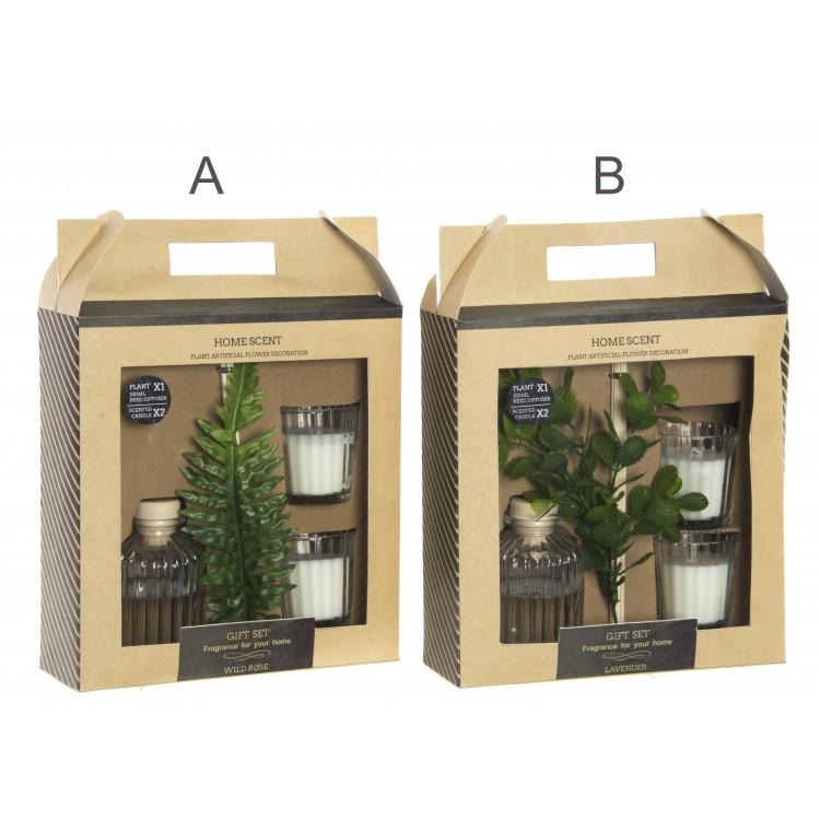 Vela perfumada en dos modelos Natural Essence - Hogar y Mas