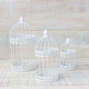 Metal cage decorative in 3 sizes elegant design France - Home and More
