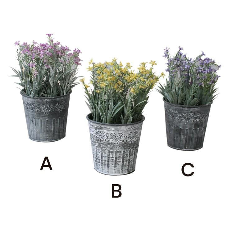 Flores artificiales en maceta colgante con gancho para balcón - Edición France - Hogar y más