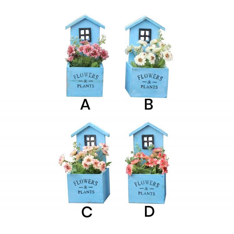 Comprar macetero original de color azul hogar y m s for Casa hogar jardin