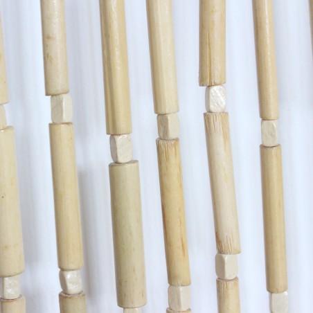 Cortina de madera natural para puerta - Diseño Natural - Hogar y más
