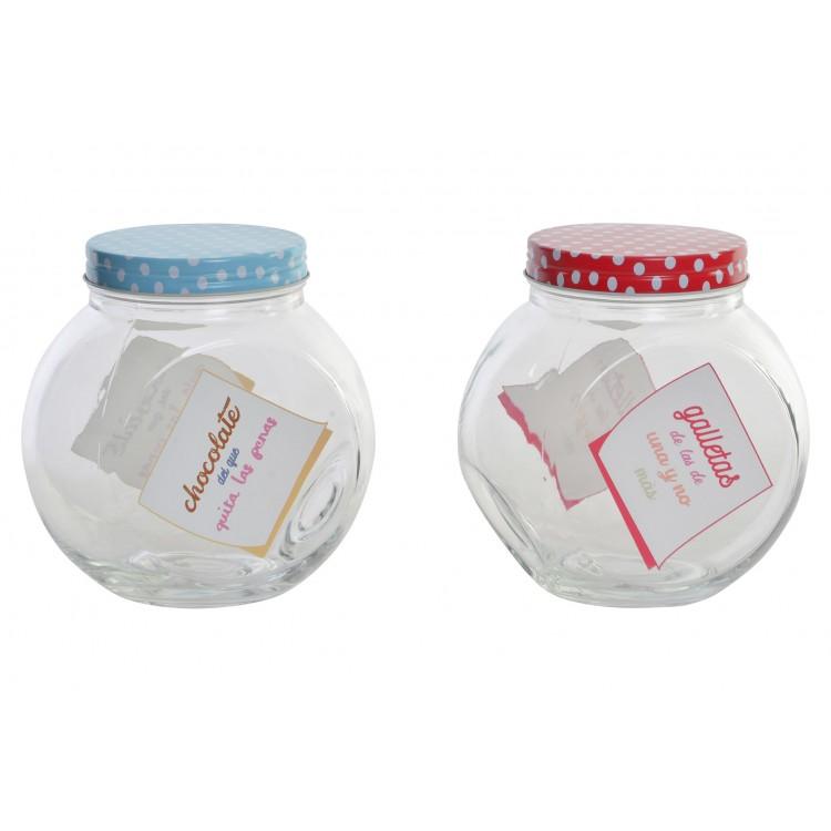 Bote de cristal para galletas con frase divertida - Diseño original - Hogar y más