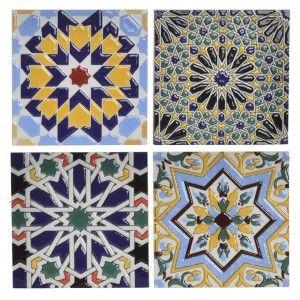 Posavasos de porcelana para copa o vaso - Diseño moderno y original - Colorido - Hogar y más