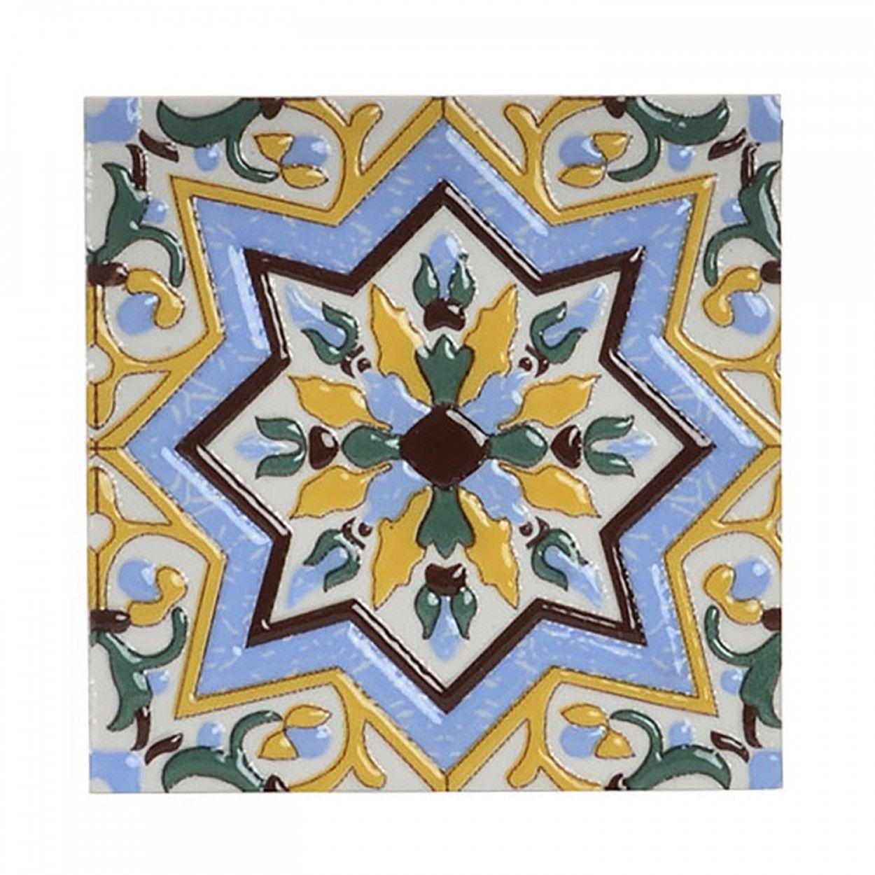 Comprar posavaso de colores tipo azulejo hogar y m s for Diseno de hogar
