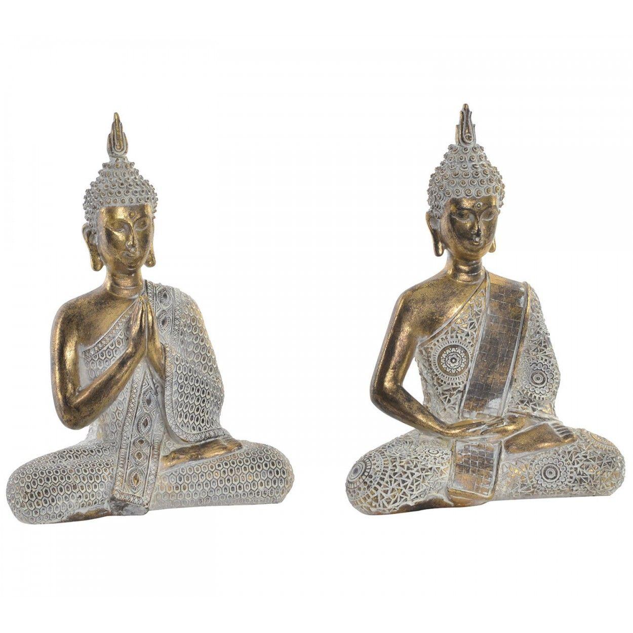 Comprar figura de buda de la suerte zen color plateado for Decoracion hogar zen