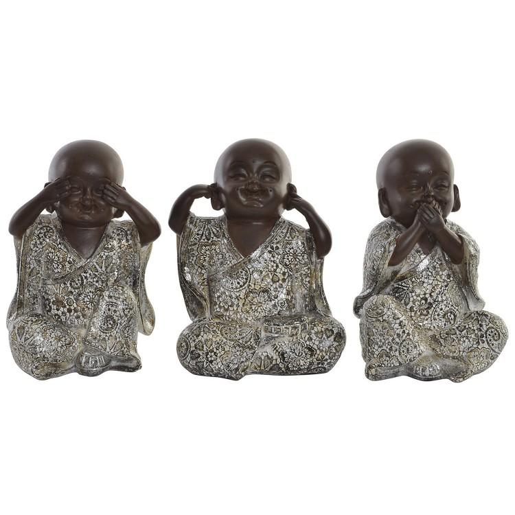Figura de resina de monjes de Nikko para decoración. Diseño divertido - Wabi Sabi - Hogar y más