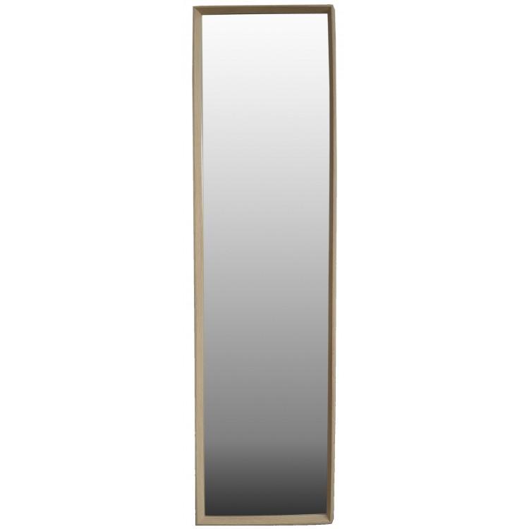 Espejo Beige para puerta de madera de Haya Natural  para dormitorio - Diseño Nórdico - Hogar y más