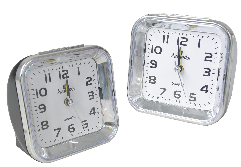 Reloj despertador con números grandes - Blanco y negro - Hogar y más
