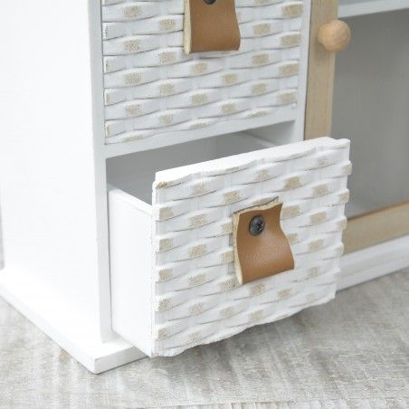 Chest of drawers with 3 drawers and a mini wardrobe with two shelves for jewelry - Nordic Design - Edition France - Home and