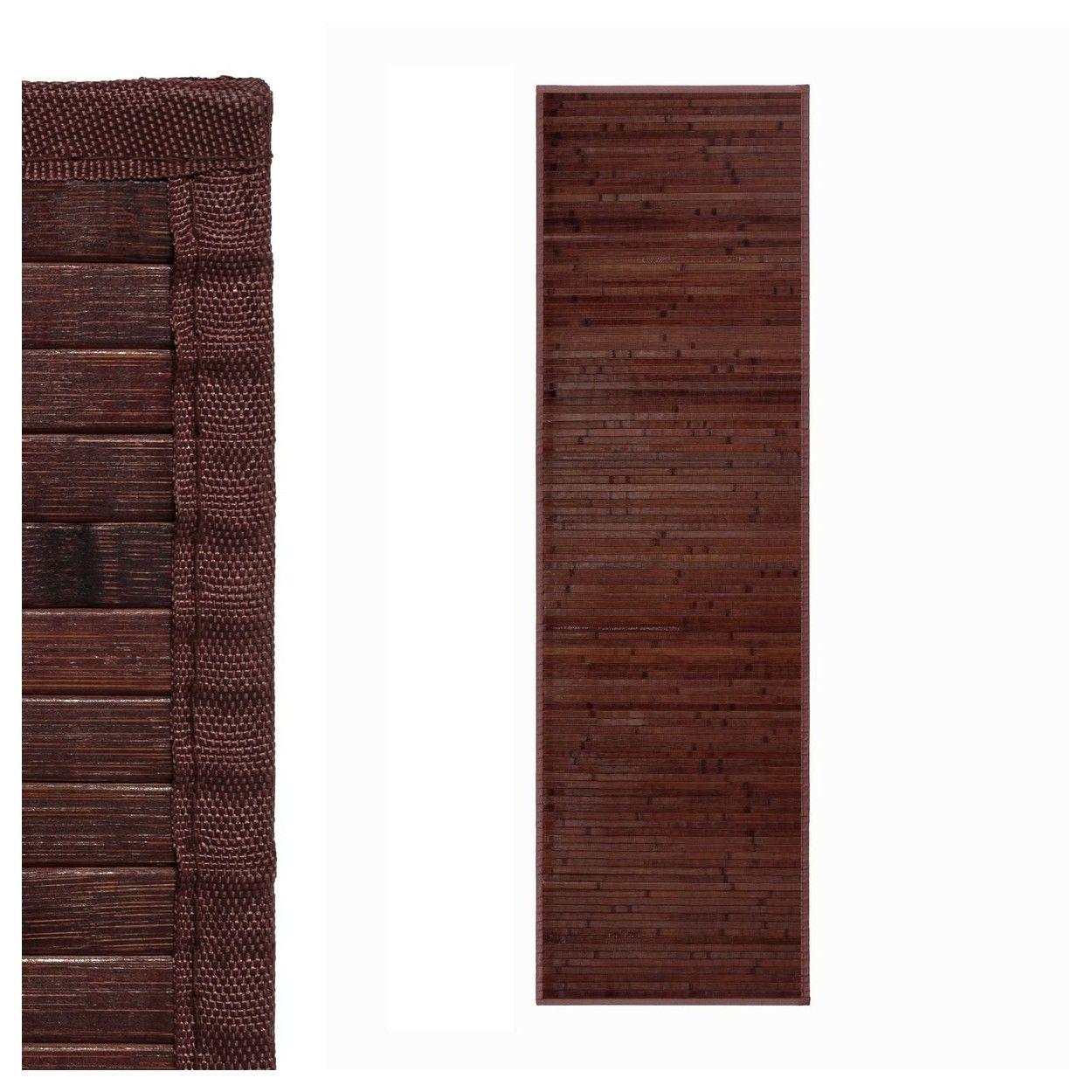 Comprar alfombra de color chocolate para pasillo hogar y m s - Alfombras bambu colores ...