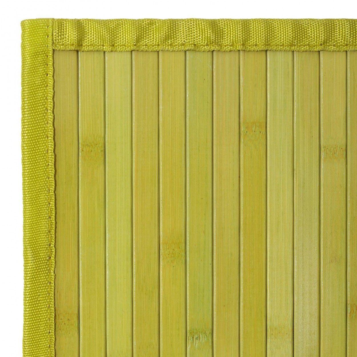 Comprar alfombra de bamb de color verde para pasillo hogar y m s - Alfombra de bambu ...