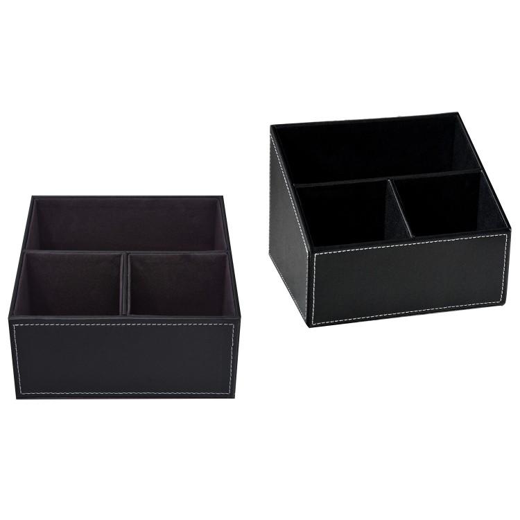Hogar y Más - Portamandos práctico de polipiel con 3 compartimentos. Diseño Moderno.