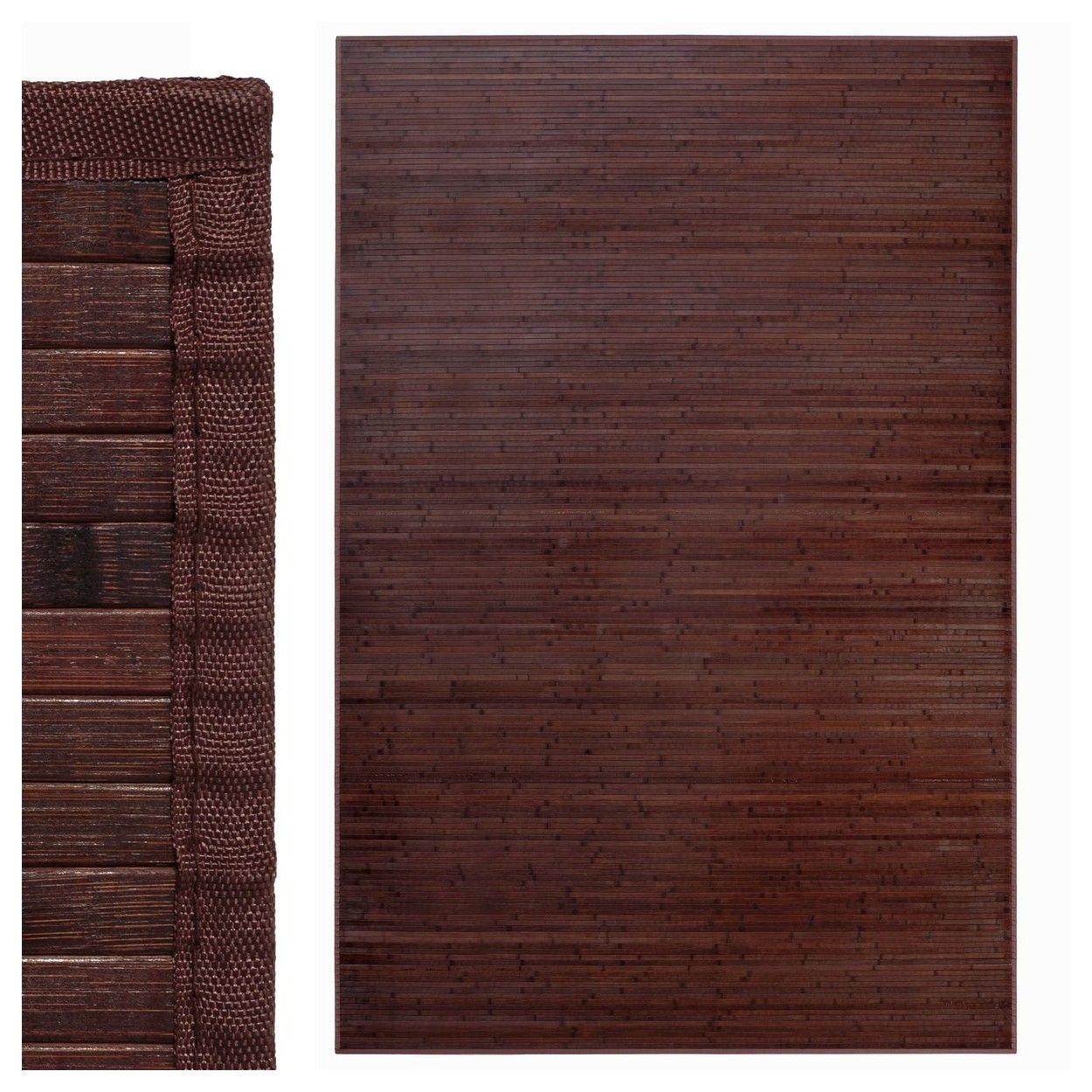 Comprar alfombra de bamb para sal n en color chocolate estilo natur hogar y m s - Alfombra de bambu ...