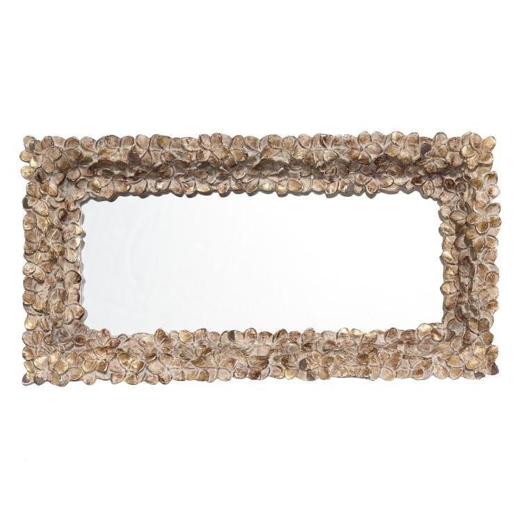 Bandeja de resina de color oro con espejo para decoración. Estilo Deluxe. 33.20 x 17 cm - Hogar y más