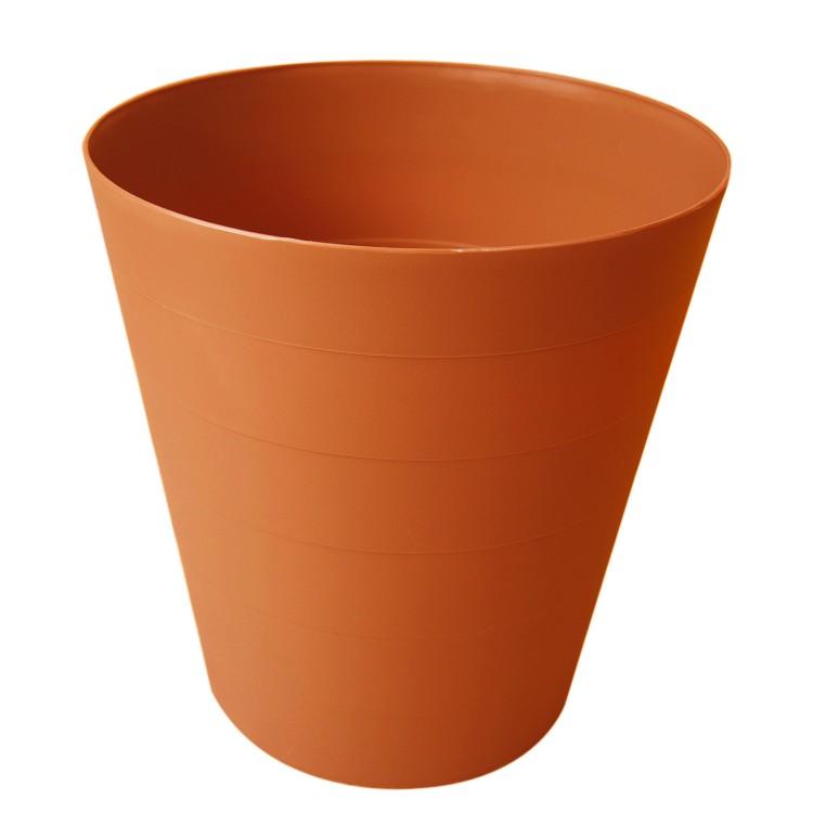 Papelera Naranja para escritorio. Diseño Colorido y moderno. 30 x 28 cm - Hogar y más
