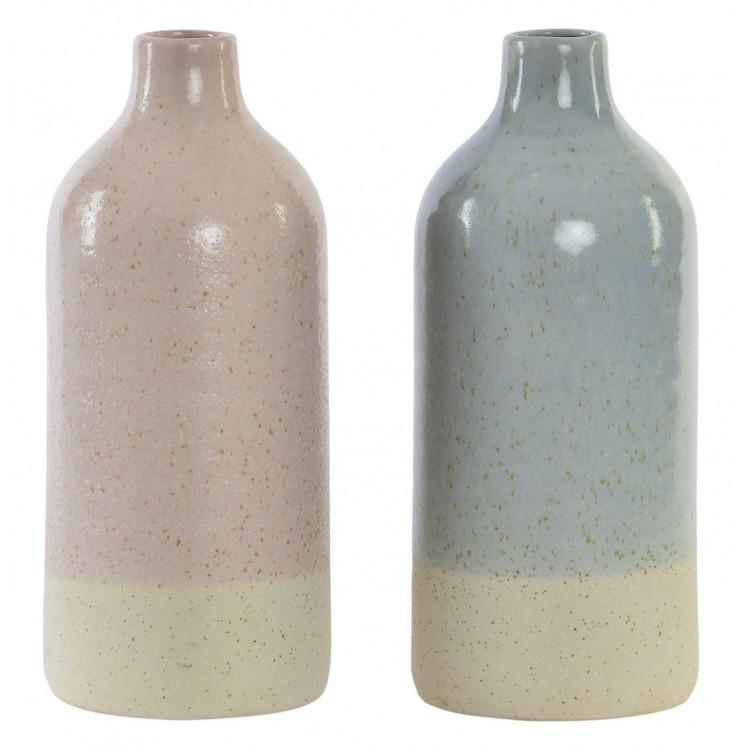 Jarrón decorativo de cerámica para recibidor/salón. Diseño moderno y natural 40.5 x 14 cm - Hogar y más