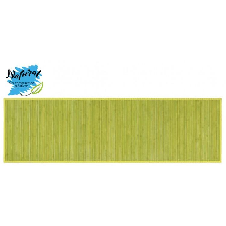 Alfombra de Bambú natural de Color Verde para pasillo, 60x200cm  - Natural - Hogar y más