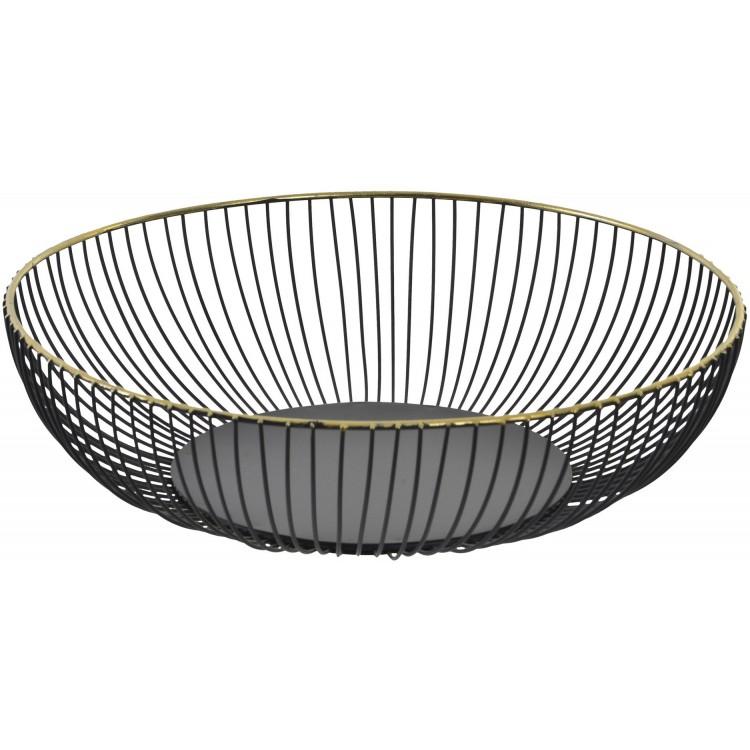 Centro de Mesa dorado y negro de Metal Brillante para decoración. Diseño Original 28 x 7.5 cm - Hogar y más