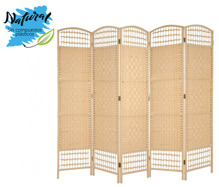 """SCREEN """"COUNTRY"""" 5 panels Color PINE 200 x 170 cm, for decoration - Home and more"""