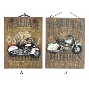 Box of wood trim to wall with bikes of metal 26 x 20 cm - Renegade - Home and more