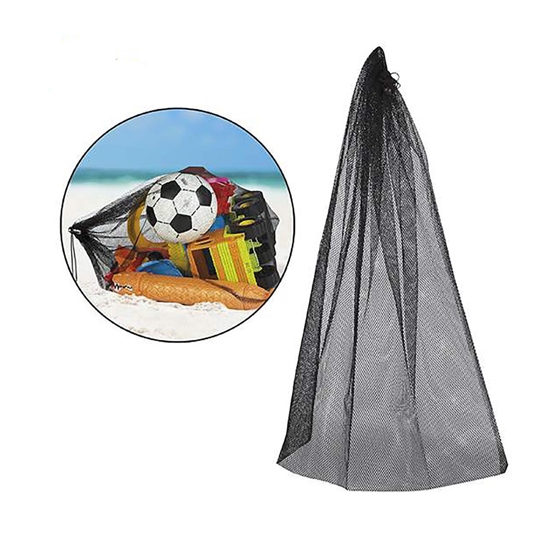 Bolsa/ red para la playa. En color negro. 60 x 75 cm - Hogar y más