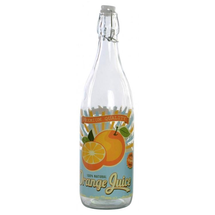 Botella de cristal 1.5l con tapón. Diseño Vintage Premium 32 x 8 cm - Hogar y más