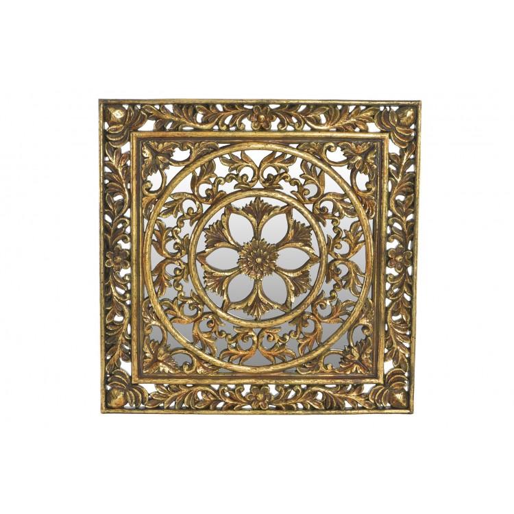 Exclusiva Decoración de Pared en Resina Natural con fondo de Cristal. Elegante/Tradicional (40X2X40 CM). -Hogar y más.