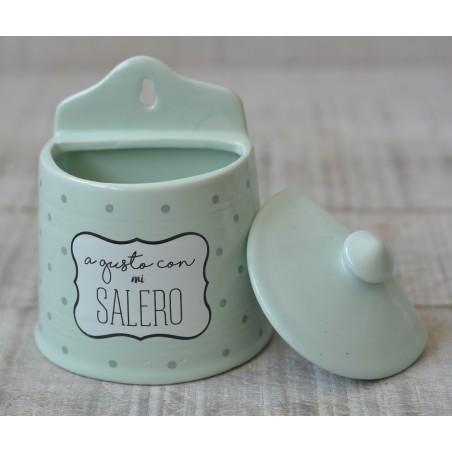 Salero original de cerámica con tapa A gusto con mi Salero - Hogar y Mas