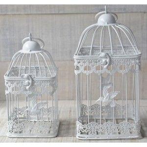 Jaula de metal decorativa elegante con colibrí - Hogar y Mas