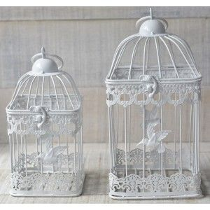 Metal cage decorative elegant with hummingbird - Home and More