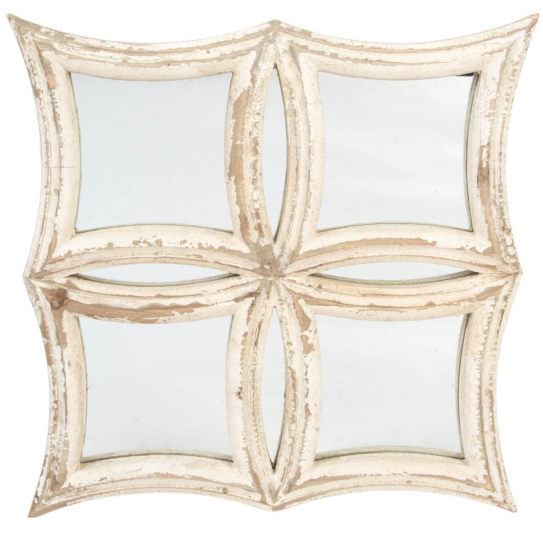 Retablo Decorativo, de Cristal y Madera con Acabado envejecido, para Decoración de Pared. Diseño Vintage/Oriental - Hogar y Más