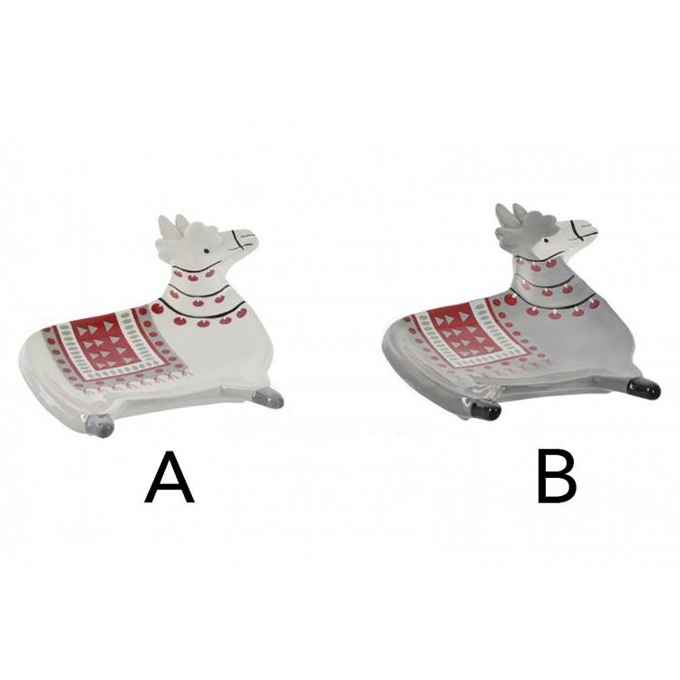 Bandeja Vaciabolsillos de Dolomite, en forma de Llama, para Llaves/Monedas. Diseño Animal, con etilo Sudamericano - Hogar y Mas