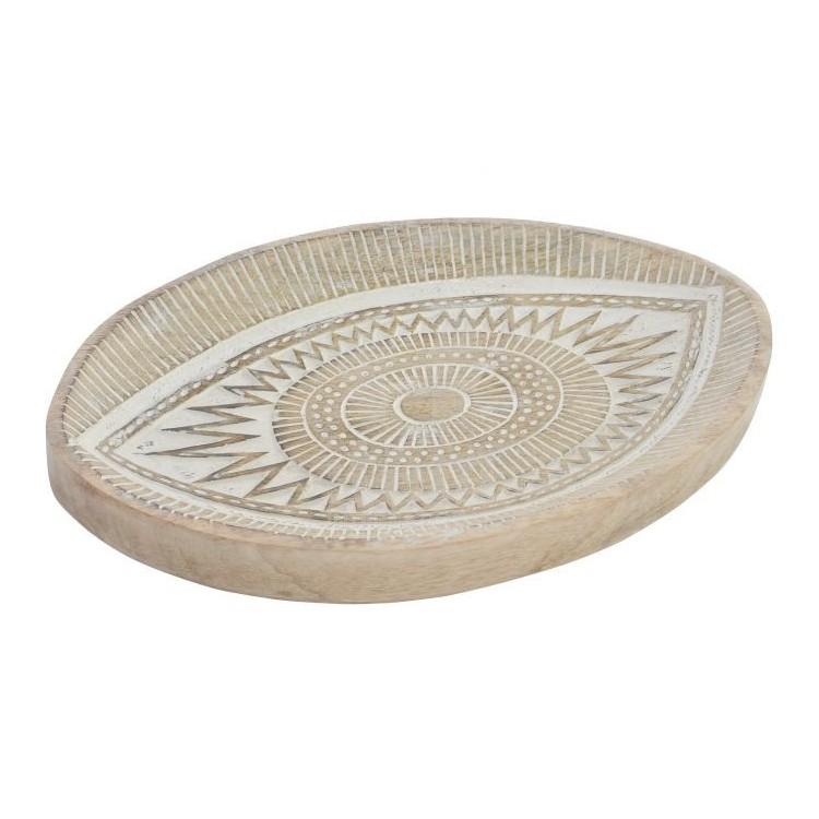 Bandeja VaciaBolsillos de cerámica, estilo Étnico/Original. Ideal para la decoración de su hogar 19X30X4 CM.-Hogarymas-