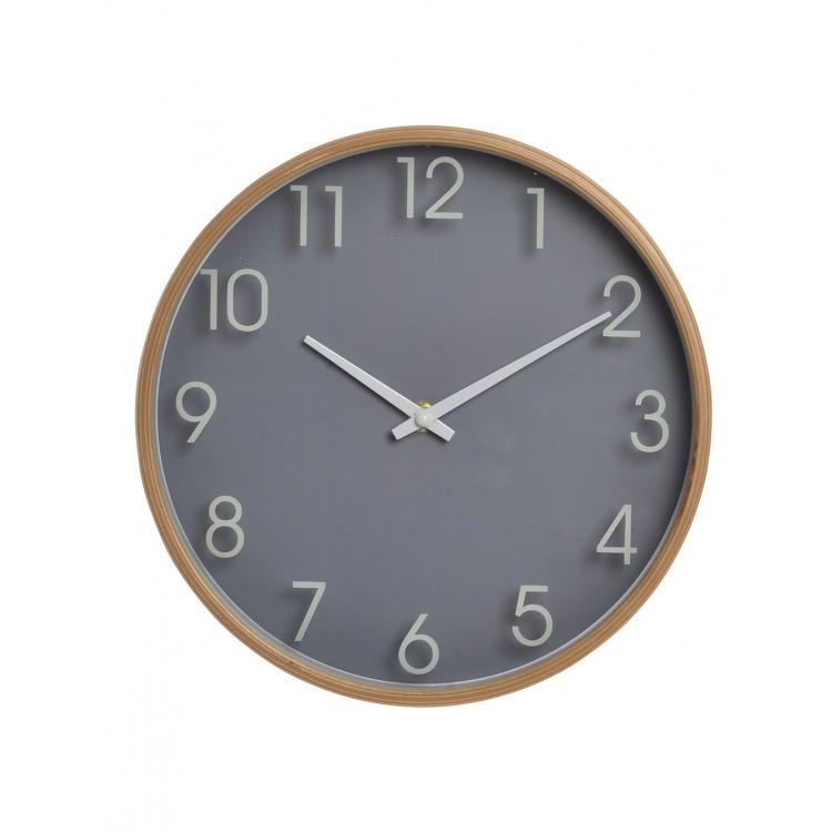 10dedf163 Relojes de Pared en madera (25,5X4,5X25,5 CM).-Hogarymas- - Hogar y más