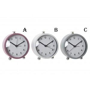 Assortment of 3 Clocks alarm clock to choose from, in metal (10X5,5X11 CM).-Hogarymas-