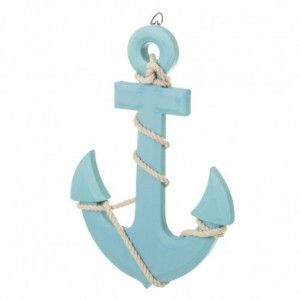 Blue anchor decorative figure wall, Original. Ideal for placing in the Bedroom/living Room. 23X1,50X33 CM.-Hogarymas-