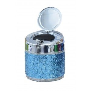 Ashtray with Glitter of Different colors to choose from. Fantasia/Original. Ideal for gift-giving. 10X9 CM -Hogarymas-
