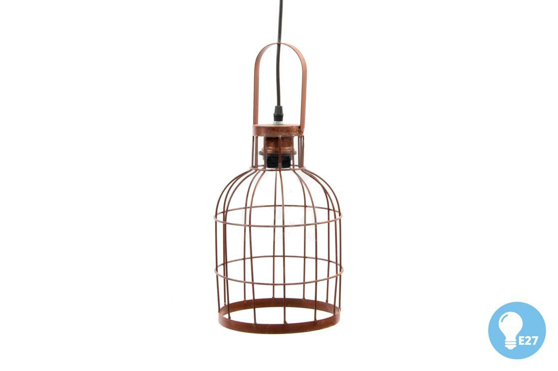 Ceiling lamp Pendant-shaped Metal Cage, Room/living Room. Industrial design with Vintage style - Home and More