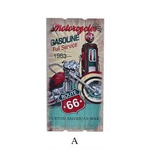 Box of wood trim to wall with bikes 30 x 60 cm - Route 66 - Home and more